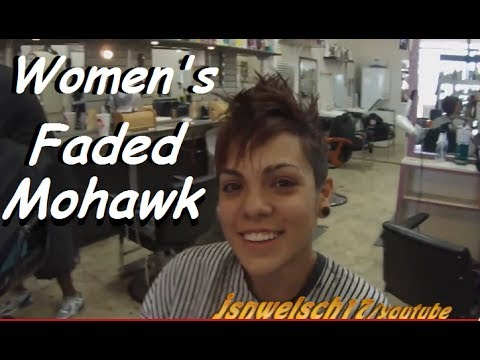 Short Womens Clippered haircut / womens tapered mohawk / womens hairstyles / womens clipper haircut