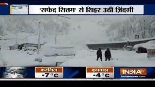 Heavy snowfall in Jammu & Kashmir and Himachal Pradesh - INDIATV