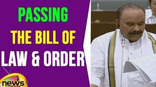 Naini Narshimha Reddy Speech On Passing The Bill Of Law & Order | Mango News - MANGONEWS