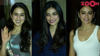 Stars Sara Ali Khan, Athiya Shetty & Kriti Sanon Grace Manish Malhotra's Party With Their Beauty - ZOOMDEKHO