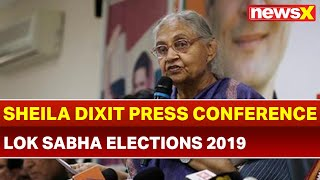 Lok Sabha Elections 2019: Sheila Dixit Press Conference, No Decision on Congress-AAP Alliance - NEWSXLIVE