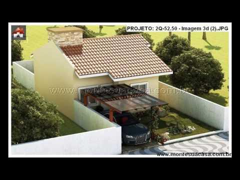 Fachadas de casas de 2 quartos - montesuacasa.com.br