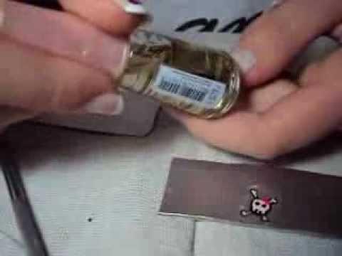 Como fazer adesivos de unha! - com caixinha de leite