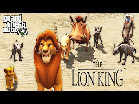 THE LION KING!! (GTA 5 Mods)