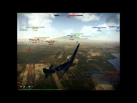 War thunder. Power of (critically) damaged spitfire.