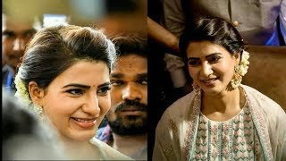 Actress Samantha At SKLS Galaxy Mall Opening In Chennai | Samantha New Look Images - RAJSHRITELUGU