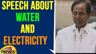 CM KCR Speech About Water And Electricity In Telangana Assembly | Mango News - MANGONEWS