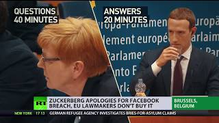 'Not a single answer': European MPs question Zuckerberg about Facebook's protection standards - RUSSIATODAY