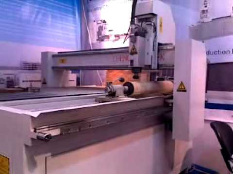 woodworking cnc router with rotary axis