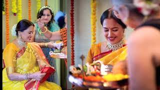 Sameera Reddy Celebrates Her Baby Shower, Looks Gorgeous In Traditional Yellow Sari - RAJSHRITELUGU