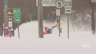 Much Of U.S. Slammed By Snow And Cold In Deadly Winter Storm   NBC Nightly News - NBCNEWS