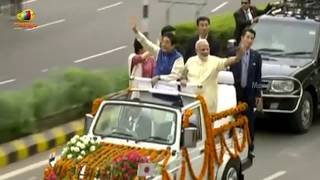 Grand Reception ForJapanese PM Shinzo Abe By PM Modi in Gujarat | Mango News - MANGONEWS
