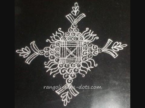 kolam designs / rangoli designs - a special padi kolam