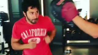Varun Dhawan Latest Workout In Gym   Trains Hard With Dino Morea - HUNGAMA
