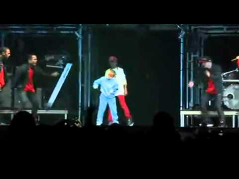Justin Bieber Jaden Smith and Jalen dance