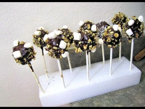 How to Make Rocky Road Cake Pops like Starbucks How to Make Cake Pops How to Make Brownies