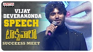 Vijay Deverakonda Excellent Speech @ Taxiwaala Success Meet | Priyanka Jawalkar | SKN - ADITYAMUSIC