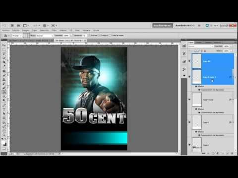 "Tutorial Photoshop: Poster ""50 cent"""