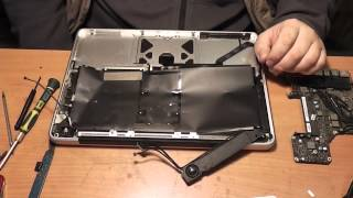 Ремонтируем Apple MacBook Pro (залитый) Часть - 1 разборка - Обзор