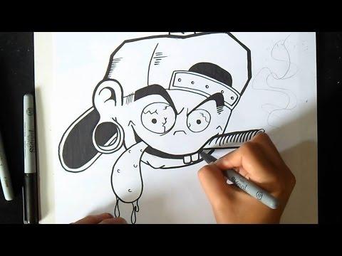 como desenhar personagem de cap Grafite  | Wizard art - by Wörld