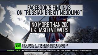Facebook to dig for more Russia-Brexit links, no evidence found yet - RUSSIATODAY