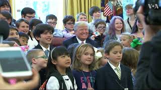 Trump Meets Children of Press Corps on Take Our Daughters and Sons to Work Day - VOAVIDEO