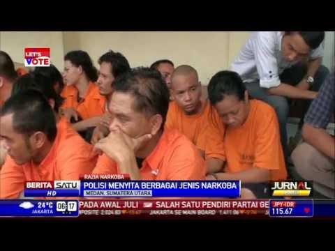 Ratusan Pengedar dan Bandar Narkoba di Medan Ditangkap