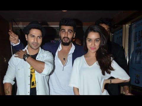 Special Screening Of 'ABCD 2' With Varun, Shraddha & Arjun