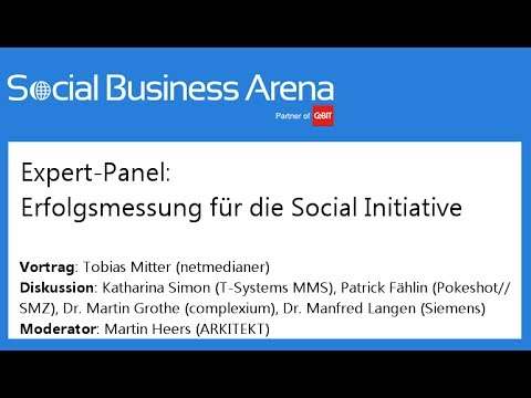 #cebitsba 2014 | Expert-Panel: Erfolgsmessung für die Social Initiative