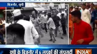 बिजनौर में छह दोस्तों ने जमकर बवाल किया, दुकानदार से बहस हुई तो बीच सड़क पर संग्राम मच गया - INDIATV