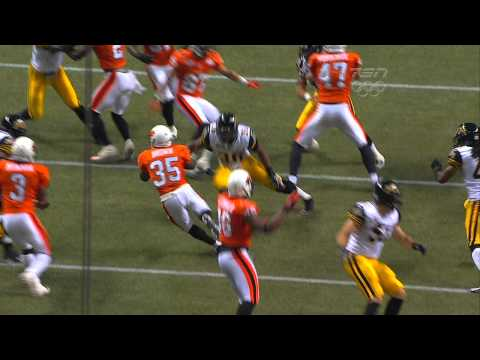 CFL Brown Returns Punt 82 Yards for TD - July 6, 2012