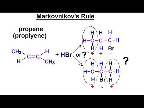 Organic Chemistry - Ch 1: Basic Concepts (27 of 97) Markovnikov's Rule