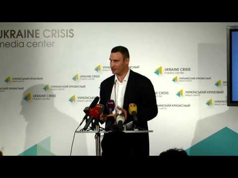(English) Klitchko. Ukraine crisis media center, 13 of June 2014