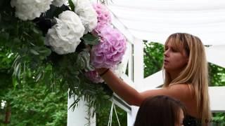 Флористика на свадьбе в ресторане Сказка