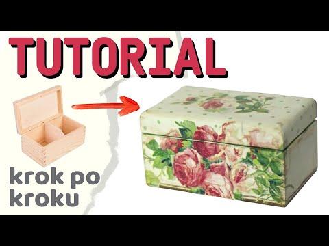 Decoupage krok po kroku - proste pudełko na herbatę