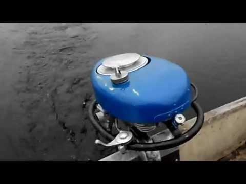 подвесной мотор в колодце