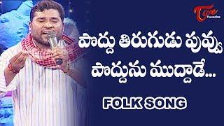 Poddu Tirugudu Puvvu Poddunu Muddade Song | Daruvu Telangana Folk Songs | TeluguOne - TELUGUONE