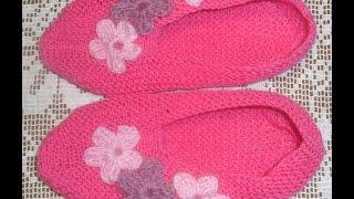 Вязание тапочек (мастер-класс)