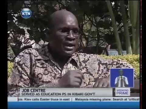 Job centre: Prof. James Ole.Kiyiapi's big break