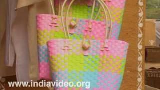 Suraj kund crafts fair, Plastic hand weaving, India
