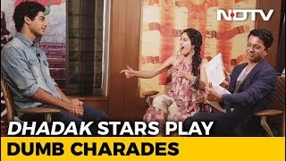 Watch! Janhvi Kapoor & Ishaan Khatter Play Dumb Charades - NDTV