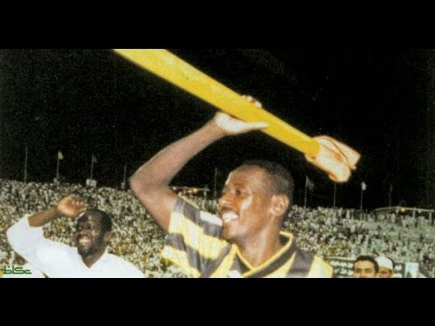 هدف أحمد جميل في الأهلي القطري البطولة الأسيوية 1999 تصوير من أرض الملعب