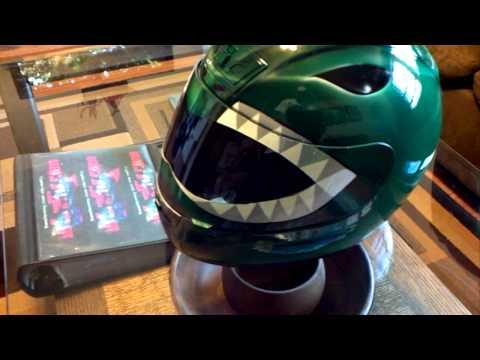 Custom Green Power Ranger Helmet Z1R Motorcycle Airbrushed