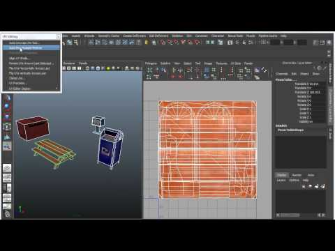 Maya Bonus Tools - Auto UV Map Multiple Meshes