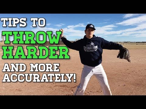 Baseball Throwing Tips to Throw HARDER and MORE ACCURATELY!