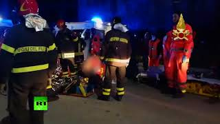 Deadly stampede in Italian nightclub: 6 killed, dozens injured - RUSSIATODAY