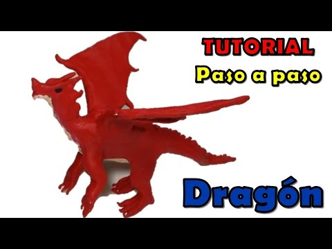 Como hacer un dragon de plastilina / how to make a clay dragon