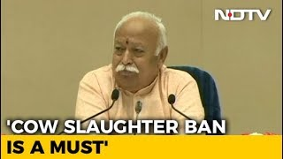 """Crime To Take Law In One's Own Hands"": Mohan Bhagwat On Cow Vigilantism - NDTV"