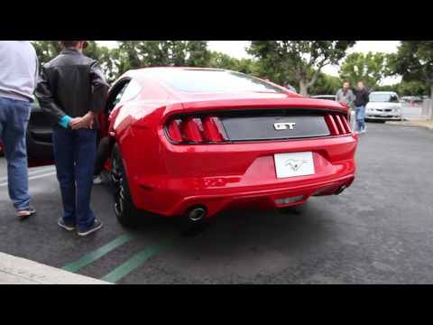 NEW 2015 MUSTANG GT V8 REVVING / START UP / IDOL SOUNDS!