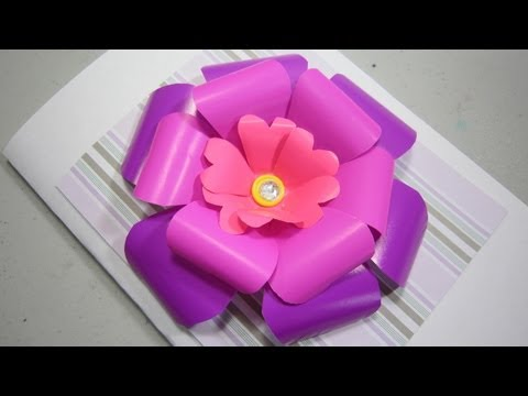 How to make a 3D scrapbooking flower